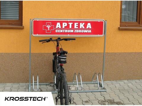 Stojak na rowery ECHO-4  z reklamą