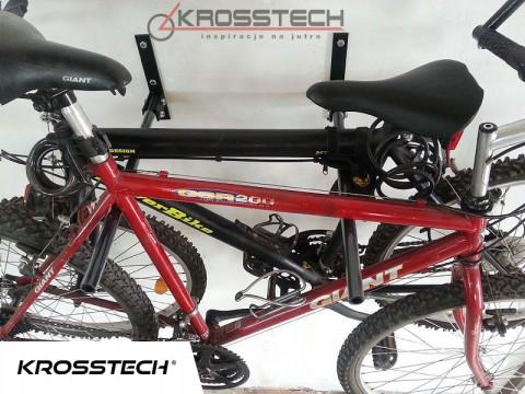 Wieszak na 2 rowery czarny 50cm