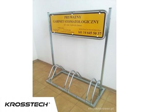 Stojak na rowery ECHO-3  z reklamą