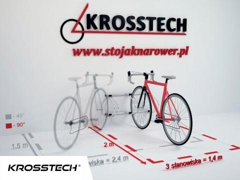 Stojak na rowery ECHO-3 ścienny
