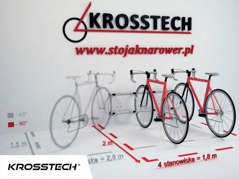 Stojak na rowery ECHO-4 ścienny