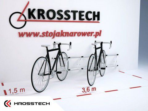 Stojak na rowery ECHO-6 ścienny
