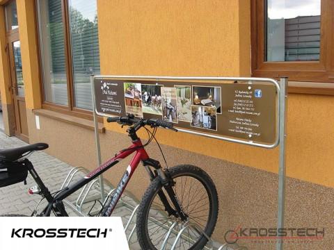 Stojak na rowery ECHO-8 z reklamą