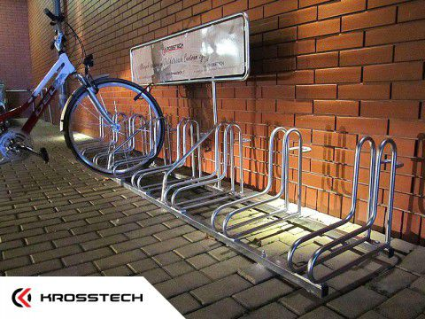 Stojak na rowery RAD-8 z reklamą