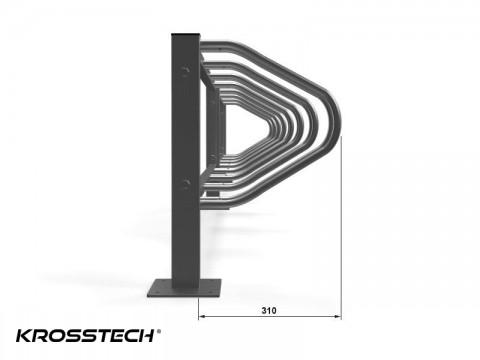 Szeregowy stojak na rowery Echo-11 pion
