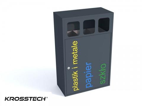 Mini kosz 3-komorowy do segregacji śmieci