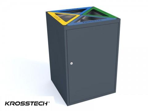 kosz do segregacji odpadów 80 litrów