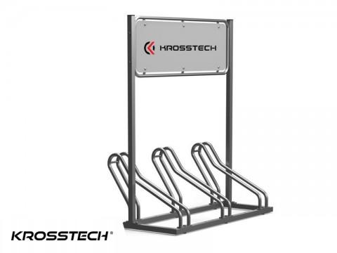 Stojak na rowery CROSS-3  z reklamą
