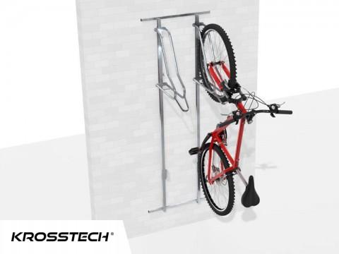 Wieszak na rowery LIFT-2 PREMIUM (2 stanowiska) na profilu nośnym