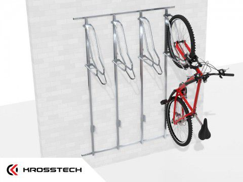 Wieszak na rowery LIFT-4 PREMIUM (4 stanowiska) na profilu nośnym