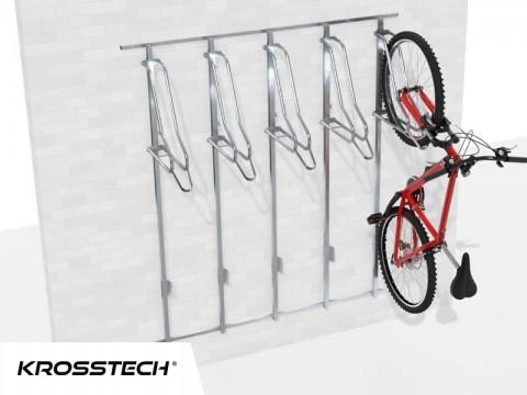 Wieszak na rowery LIFT-5 PREMIUM (5 stanowiska) na profilu nośnym