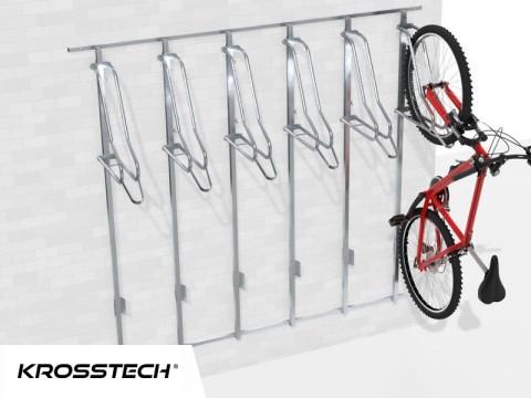 Wieszak na rowery LIFT-6 PREMIUM (6 stanowiska) na profilu nośnym