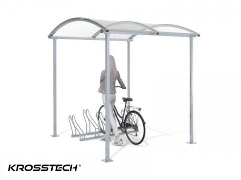 """Wiata rowerowa """"Zorza"""" tylko zadaszona na 5 rowerów / 210cm"""