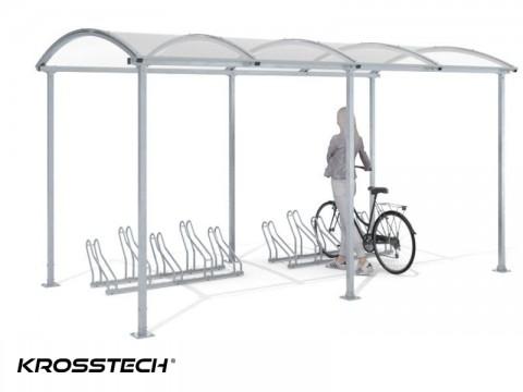 """Wiata rowerowa """"Zorza""""  tylko zadaszona na 10 rowerów / 420cm"""