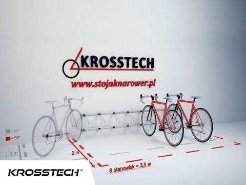 Stojak na rowery ECHO-8 ścienny