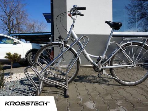 Stojak na rowery CROSS-4 z barierką inox