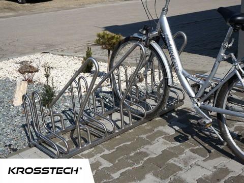 Stojak na rowery RAD-6 z barierką inox