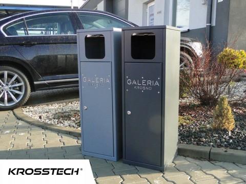 Pojemnik pojedynczy do odpadów na zewnątrz 40l