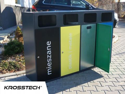 Kosz 4-komorowy do segregacji śmieci
