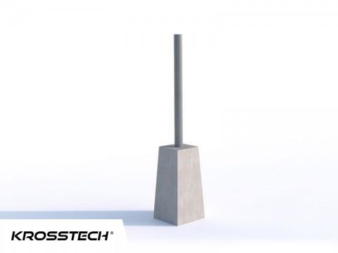 Bloczek betonowy  do mocowania wiat