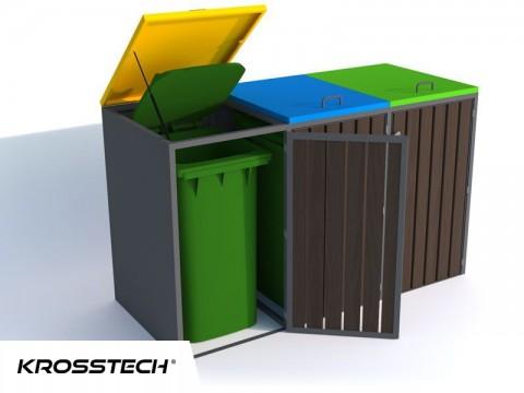 Zabudowa do pojemników na odpadki I 3x240l