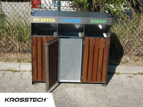 Pojemniki na odpady segregowane 80l