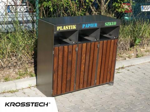Pojemniki na odpady segregowane 80l Ajaks