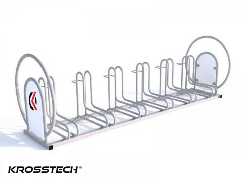 Stojak na rowery  RAD-6 z reklamą