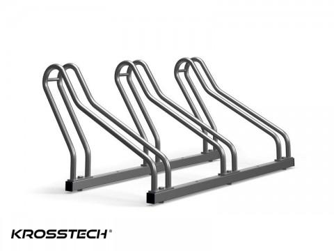 Stojak na rowery CROSS-3 nierdzewka