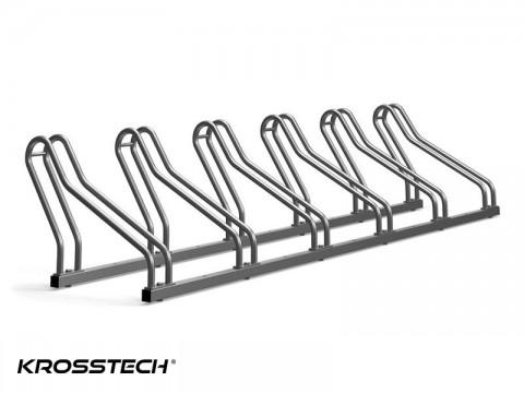 Stojak na rowery CROSS-6 nierdzewka