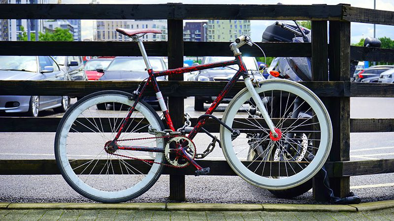 Blokada rowerowa - łańcuch